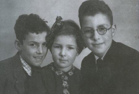 משמאל לימין: יוסף (יאפ), ביניה האחות שנרצחה, דוב (ברנרד)